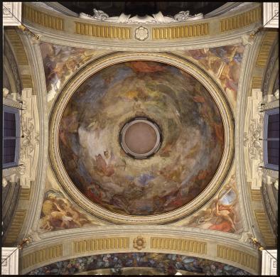 Studio Pym, Bologna, Santa Maria della Vita, Gandolfi G. e Barozzi S., Veduta della cupola del Paradiso, trasparenza colore/pellicola, CC BY-NC-ND