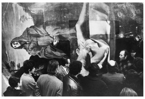Monti, Paolo, Bologna, Pinacoteca Nazionale, Visita di Ottorino Nonfarmale alla Pala di Guido Reni restaurata, gelatina bromuro d'Ag/pellicola, CC BY-NC-ND