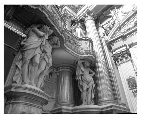 Fanti, Corrado, Rimini, Santa Maria dei Servi, Trentanove A., Telamoni, gelatina bromuro d'Ag/ pellicola, CC BY-NC-ND