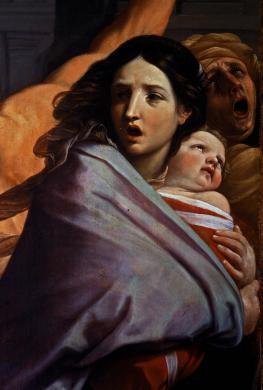 Antonio Quattrone, Bologna, Pinacoteca Nazionale, Guido Reni, Strage degli innocenti (part.), trasparenza colore/ pellicola, CC BY-NC-ND