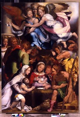 Foto Pegorini, , Cremona, Pinacoteca Civica, Scutellari A. detto Andrea da Viadana, Adorazione dei pastori (dono di A. Boschetto), trasparenza colore/ pellicola, CC BY-NC-ND
