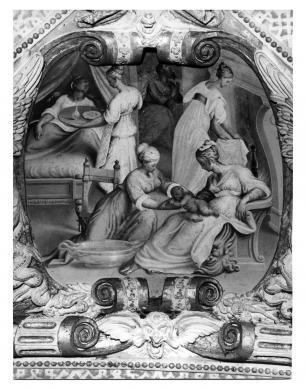 Foto Fazioli, Cremona, Cremona, San Sigismondo, Antonio Campi, Natività della Vergine, decorazione della navata centrale, gelatina/ carta, CC BY-NC-ND