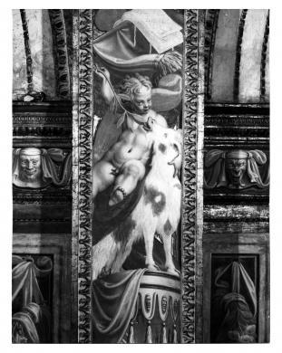Foto Fazioli, Cremona, Cremona, San Sigismondo, Antonio Campi, Putto, decorazione della navata centrale, gelatina/ carta, CC BY-NC-ND