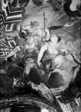 Bozano, Giacomo, Particolare dell'affresco di Valerio Castello nel Palazzo Balbi Senarega (sede della biblioteca del DIRAAS - sezione arte), CC BY-SA