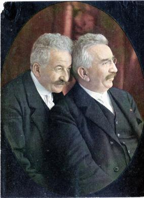 Bellingard, Lione, I fratelli Auguste e Louis Lumiere, zincografia da autochrome, CC BY-SA
