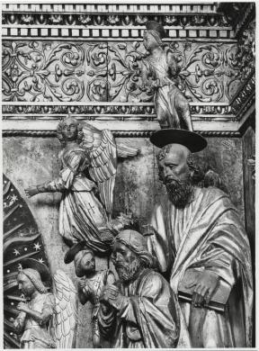 Elio e Stefano Ciol, Giovanni Martini, Ancona lignea (part.), Chiesa dei Santi Pietro e Paolo, Mortegliano, CC BY-SA