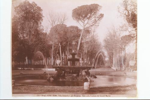 Brogi, Giacomo, [Roma - Villa Borghese - Viale colla Fontana dei Cavalli Marini], Stampa all'albumina, CC BY-NC-SA