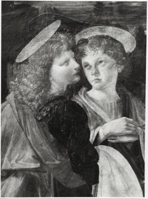 Bardazzi Fotografia, Leonardo da Vinci, Andrea Verrocchio, Battesimo di Cristo (part.), Galleria degli Uffizi, Firenze, CC BY-SA