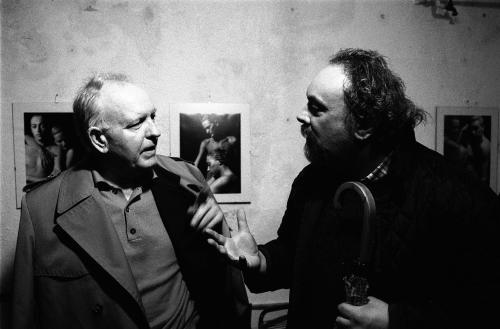 Del Mistro, Orio, Il pittore Giuseppe Zigaina con il  poeta  Federico Tavan, stampa ai sali d'argento, CC BY-SA
