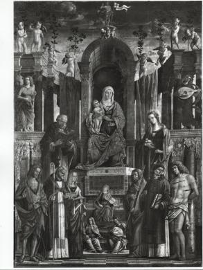 Elio e Stefano Ciol, Pellegrino da San Daniele, Madonna col Bambino in trono e santi, Chiesa di Santa Maria ad Nives, Osoppo, CC BY-SA