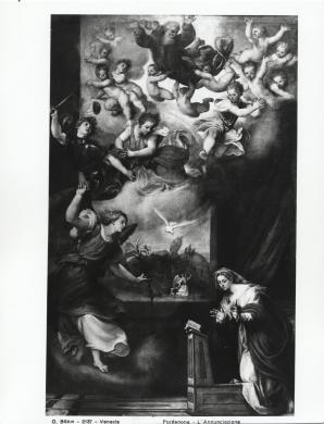 Osvaldo Böhm, Giovanni Antonio de' Sacchis, il Pordenone, Annunciazione, Chiesa di Santa Maria degli Angeli, Murano, CC BY-SA