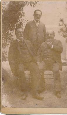 [Ritratto di Beniamino, Davide e Giuseppe Besso], Stampa ai sali d'argento, CC BY-NC-ND