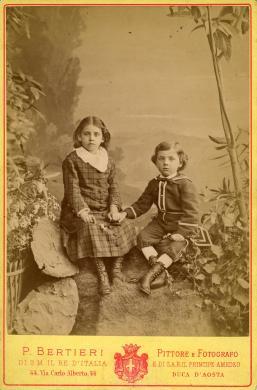 P. Bertieri, Torino, Ritratto di Maggie e James Nisbet, Albumina/ carta, CC BY-SA