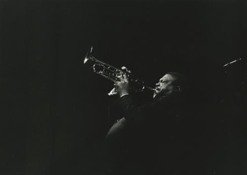 Del Comune, Attilio, Cat Anderson. Dalla serie Jazz portrait, gelatina bromuro d'argento / carta, CC BY-NC-ND