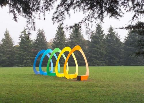 Gianni Benedetti, Twister di Tuttofuoco Patrick, Luna Park. Arte Fantastica Sculture nel parco a Villa Manin, Passiariano (UD), fotografia digitale, CC BY-SA