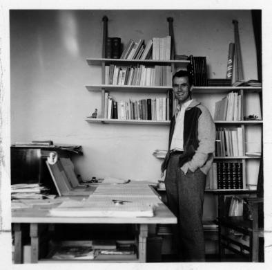 sconosciuto, Luigi Nono, fine anni '50, stampa alla gelatina di sali d'argento, CC BY