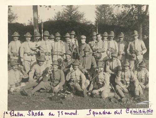 Fondo Famiglia Rocca - Albania. Ritratto di militari, 1916, gelatina bromuro d'argento, CC BY-NC-ND