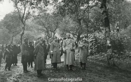 De Monte, Olinto, Seconda visita di Umberto di Savoia a Sutrio (UD), 1939 circa, Gelatina ai sali d'argento/ cartolina postale, CC BY-NC
