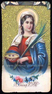 Santa Lucia, 1900 circa, Cromolitografia, CC BY-NC-ND