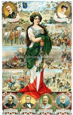Allegoria dell'Italia turrita, 1911, Cromolitografia, CC BY-NC-ND