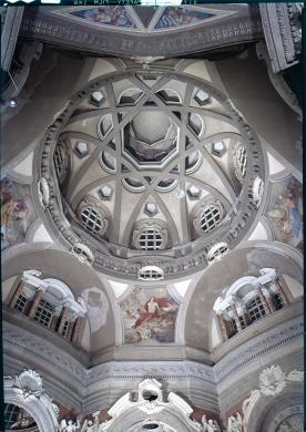 Guarino Guarini, Chiesa di San Lorenzo (particolare della cupola), Torino, 1964 circa, gelatina ai sali d'argento su pellicola, fotocolor, CC BY-NC-ND