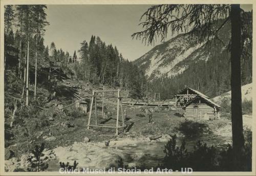 Brisighelli, Attilio, Bagni di Lusnizza - Industria legnami D'Antoni, 1926, gelatina bromuro d'argento/ carta, CC BY-NC-SA