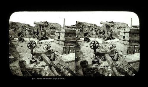 Sevaistre, Eugene, 1132. Batterie San-Antonio (Siége de Gaëte.), 1861, stereofotografia, CC BY-SA