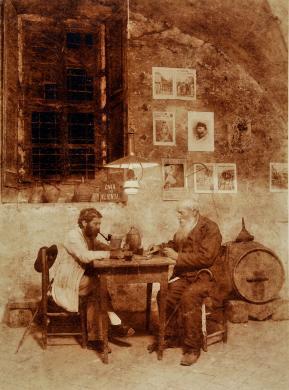 Filippo Rocci (Fara Sabina, 1881 – Rieti, 1965), Vizio inveterato, stampa originale al carbone, CC BY-SA