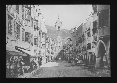 Th. Benzinger, Licthbilderverlag, Stuttgart, Strada a Sterzing, Lastra fotografica in vetro, CC BY-NC-ND