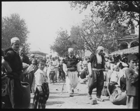 Almagià, Roberto, Pekinj, Mercato, 1930 circa, Lastra fotografica in vetro, CC BY-NC-ND