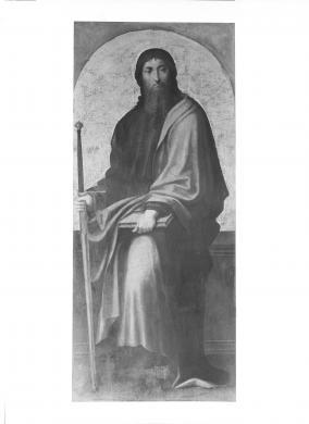Cagliari, Pinacoteca, post 1913. Tavola di San Paolo, autore Pietro Cavaro, proveniente dal Chiostro di San Domenico, Cagliari, CC BY-NC-ND
