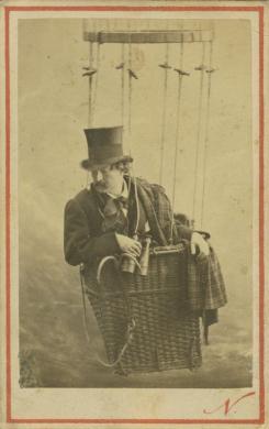 Nadar, Autoritratto di Felix Nadar, terzo quarto XIX secolo, stampa all'albumina, inv LV 47/58, CC BY-SA