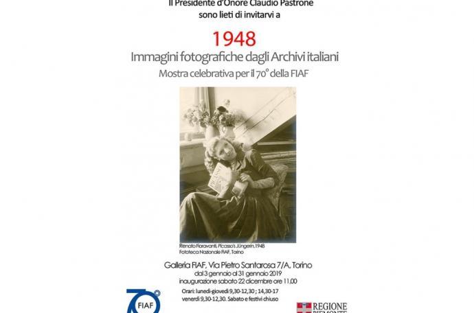 1948 . Immagini fotografiche dagli Archivi Italiani - 70°anniversario FIAF