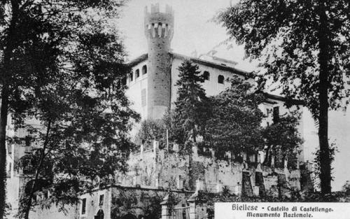 Cossato, castello di Castellengo, cartolina illustrata, CC BY-SA