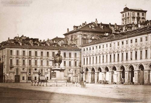 Sella, Giuseppe Venanzio, Piazza San Carlo, 1852, Calotipo, CC BY-SA