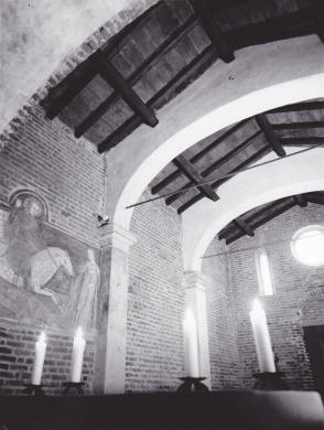Bonzanini, Mario, Restauro della Chiesa di San Giorgio in Strata, Vigevano. 1967, CC BY-SA