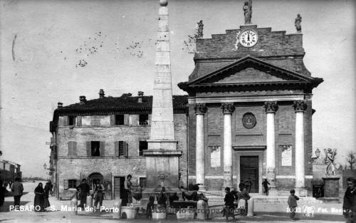 Gaetano Baviera, La chiesa del Porto di Pesaro, 1910, CC BY-SA