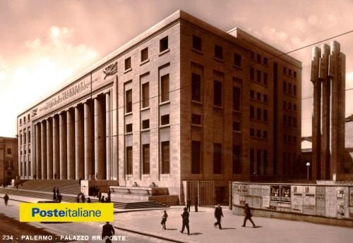1939, Palermo. Il palazzo delle Poste progettato da Angiolo Mazzoni, architetto e ingegnere del Ministero delle Comunicazioni, inaugurato il 28 ottobre del 1934, CC BY-NC-ND