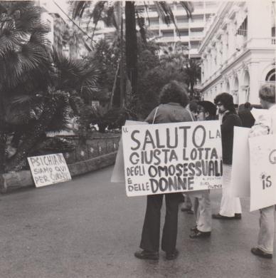 Sanremo. Saluto la giusta lotta degli omosessuali e delle donne, CC BY-SA