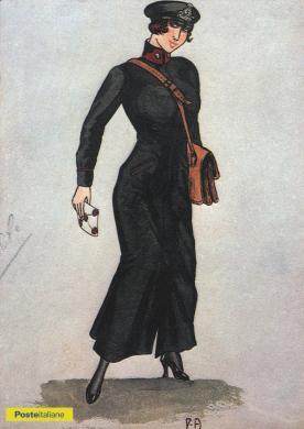 Bozzetto per una divisa da portalettere donna del Regno d'Italia, CC BY-NC-ND