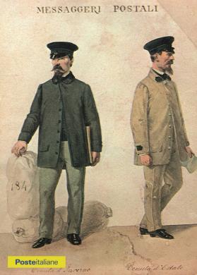 Uniformi estiva e invernale da messaggeri postali del Regno d'Italia, CC BY-NC-ND