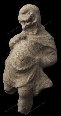 Museo Archeologico Regionale Paolo Orsi, Statuetta di attore comico in terracotta. III sec. a.C. da Akradina, Siracusa., Fotografia Still Life, CC BY-NC-ND