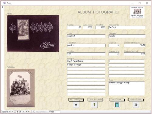 Adriano Silingardi, Data base collezione Album, CC BY-SA