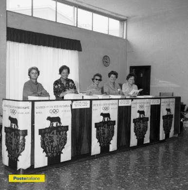 1960, Roma. Ufficio informazioni C.O.N.I. alla Domus Mariae durante le XVII Olimpiadi, CC BY-NC-ND